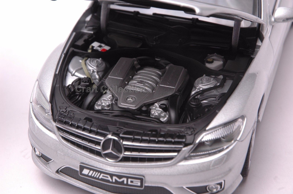 * Autoart 1/18 Scale Mercedes Benz CL63 AMG Coupe (Silver) Luxurious Assortment Diecast Mannequin Automobile Luxurious Race Car