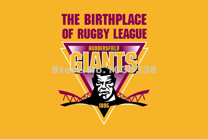 Huddersfield Giants Flag 3ft X 5ft Engage Rugby Super League SLE Banner Size 4 144* 96cm Flag(China (Mainland))