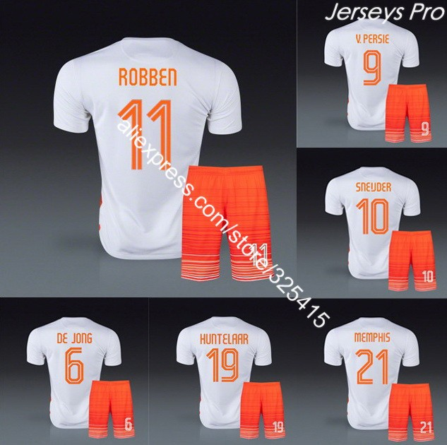 camisetas de futbol custom Soccer jerseys football uniforms kits 2015 depay de jong robben van basten huntelaar sneijder blind(China (Mainland))