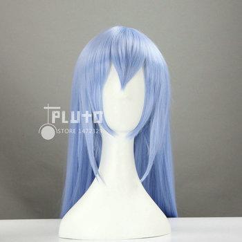 [Akame ga KILL] Esdeath Cos Wig Smoke Blue Straight Long 100cm Anime Synthetic Hair