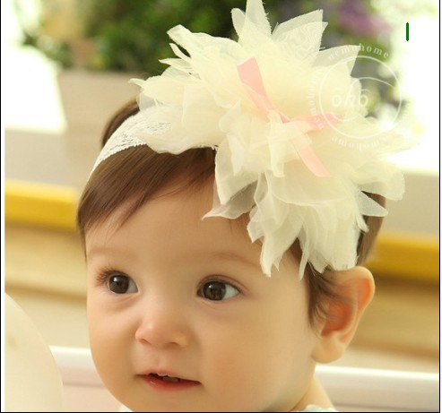 Top Sell Toddler Kid Headwear New Flower chiffon Baby Hairbands,Baby Hair Accessories,Girls lace Headband,Infant Hairband , 56(China (Mainland))