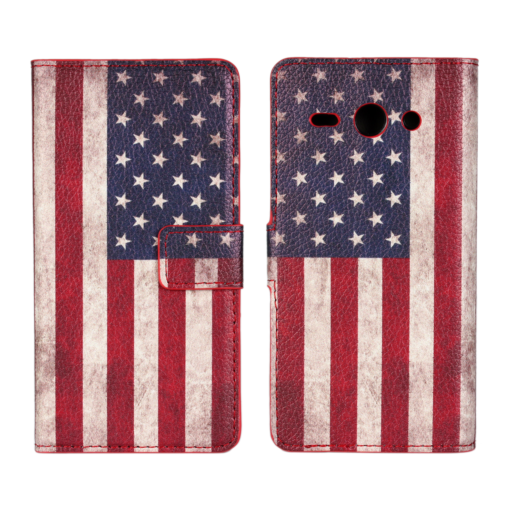 For Huawei Y530 Cover Case Retro UK USA Flag Wallet Leather Book Purse Mobile Phone Accessories Cover For Huawei Ascend Y530(China (Mainland))