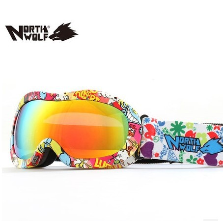2014 100%UVA/UVB Protection Sports Ski Snowboard Goggles Kid Skiing Eyewear Glasses - janney xiao's store