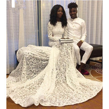 Buy long sleeves wedding dresses 2017 Vintage lace mermaid wedding gowns long train cheap bridal dresses vestidos de novia sirena for $203.67 in AliExpress store