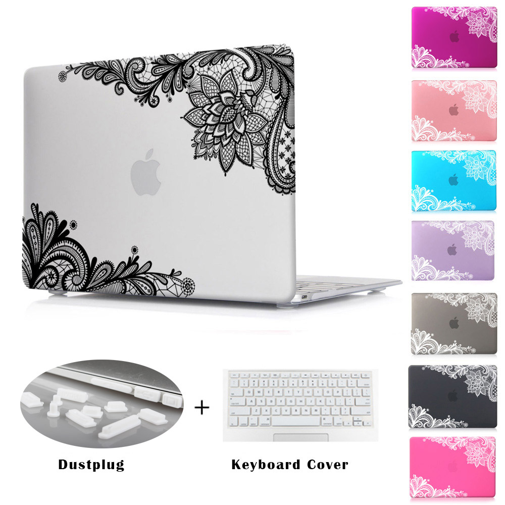Air Pro 13 inch Lace Girls Gifts Rubberized Matte Hard Case for Apple MacBook Pro 13.3 15.4 12 11 with Retina Display Sleeve(China (Mainland))