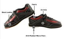 Свободного покроя спорт сникер Athletic черный боулинг обувь для мужчины и женщины кожа боулинг обувь