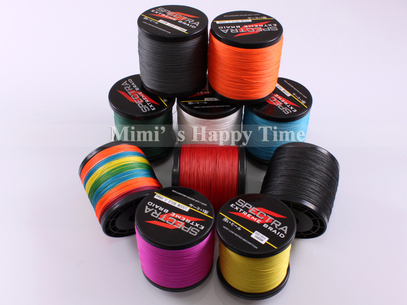 4 Strands 1000M PE Braided Fishing Line Saltwater Fishing Weave BIG GAME Superior Extreme Super Strong 100% SuperPower Spectra(China (Mainland))