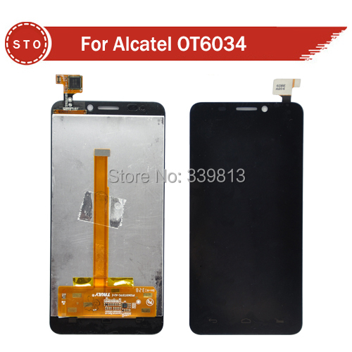 Original LCD Display+Digitizer touch Screen For Alcatel One Touch Idol S 6034 OT6034 6034R 6034Y 6034M Free shipping