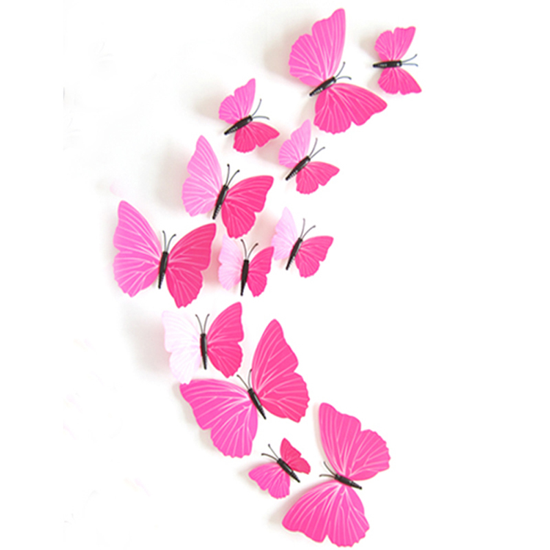 Buy 12pcs 3d colorful butterfly wall sticker home decor diy christmas