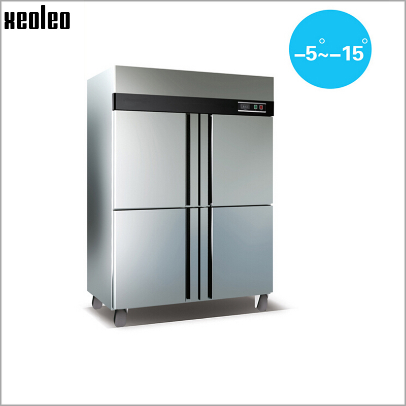 Xeoleo Commercial Freezer 860L Kitchen Freezing cabinet Temperature -5~-15 220V Stainless steel Refrigerator For Restaurant(China (Mainland))