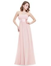 Long Evening Dress Ever Pretty EP09955 Sleeveless Ruched Bust Black Woman Maxi Chiffon 2017 Fast Shipping Vestidos Dresses(China)