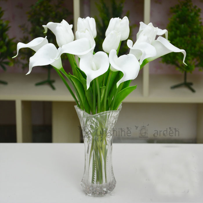 2016 multicolor 20pcs bouquet artificial pu calla lily flowers real touch bouquet wedding bridal. Black Bedroom Furniture Sets. Home Design Ideas