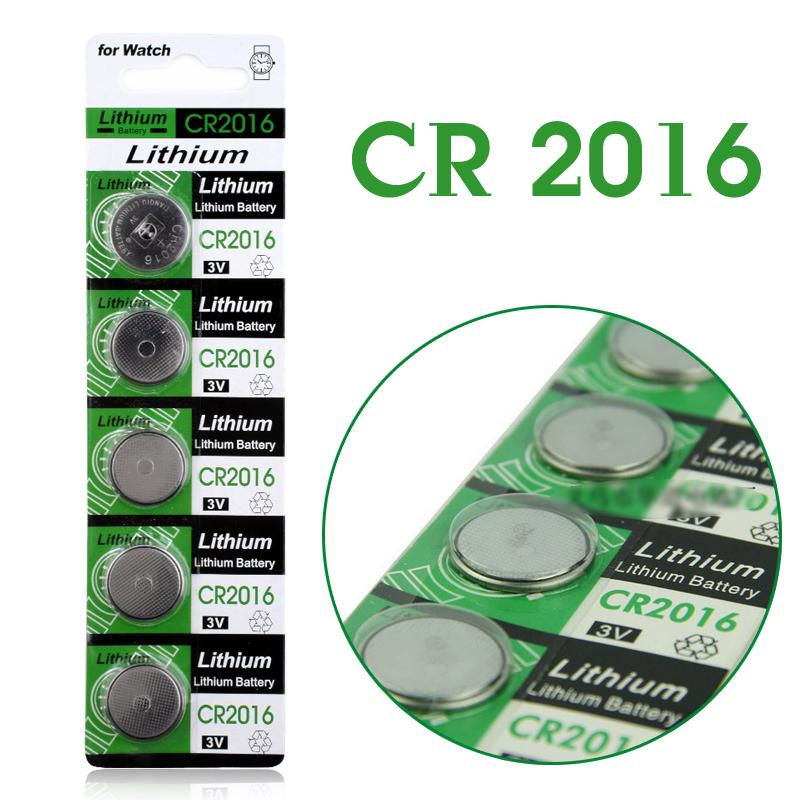Гаджет  Button battery 5 Pcs 3V Lithium Coin Cells Button Battery DL2016 KCR2016 CR2016 LM2016 BR2016 EE6225 None Бытовая электроника