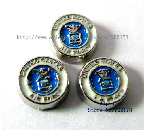 United States Air force FC273 10pcs floating locket charms fit living memory floating locket as families friend gift(China (Mainland))