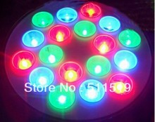 54W Par56 18pcs*3w embedded RGB LED underwater light for pool swimming lighting,High quality with remote controller(China (Mainland))