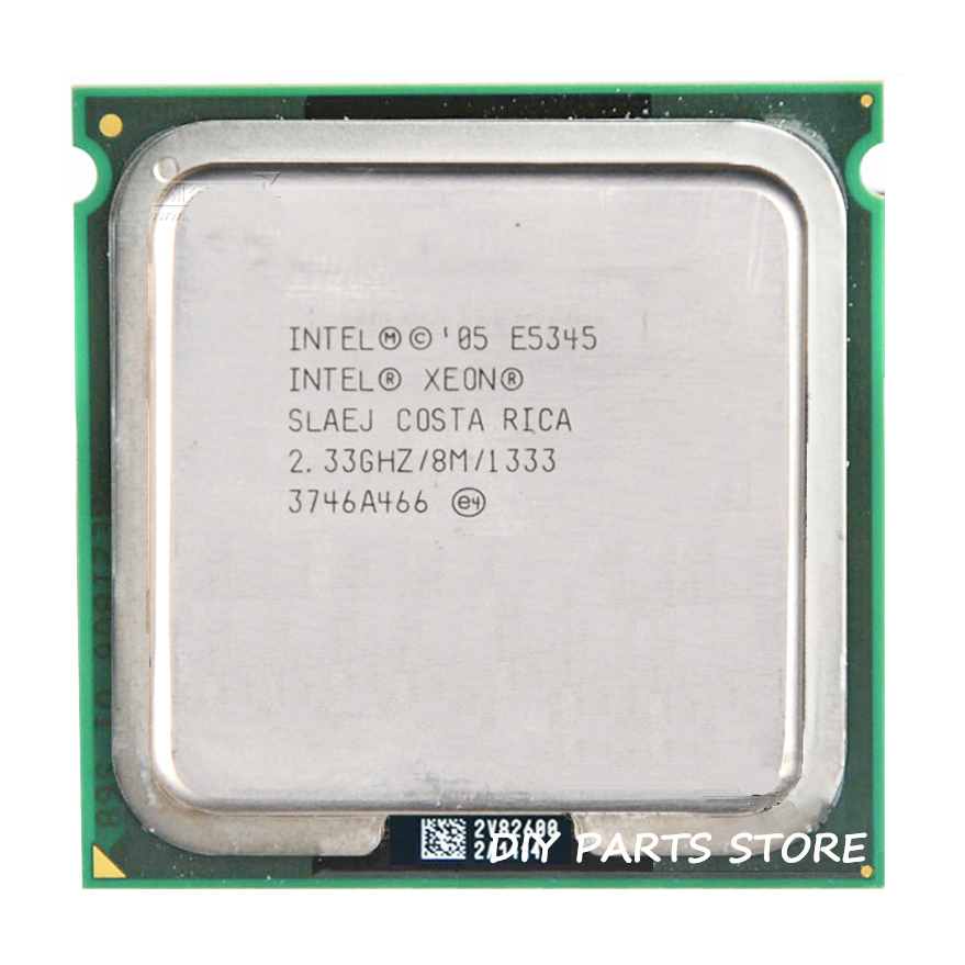 INTEL XONE E5345 CPU INTEL E5345 PROCESSOR quad core 4 core 2.3MHZ LeveL2 8M Work 775 2pcs adaperts