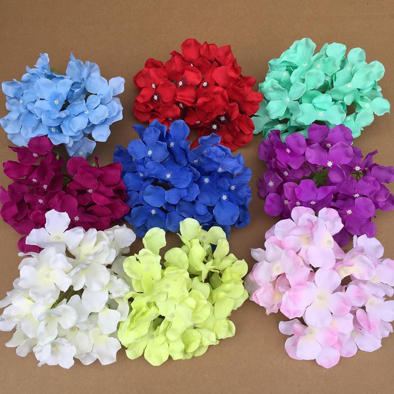 Decorative Hydrangea Artificial flower head diameter 17cm / DIY Wedding flower wall Headdress Background wall Many Uses Wreath(China (Mainland))
