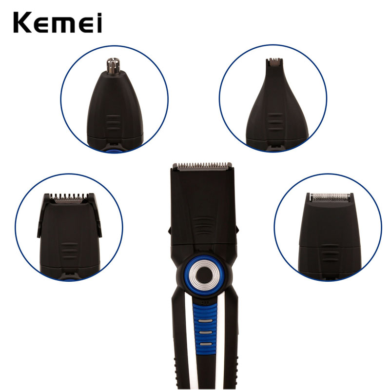 6 in 1 Rechargeable Hair Trimmer Clipper Professional Electric Shaver Hair Shaving Beard Razor Nose Ear Trimmers Comb Machine(China (Mainland))