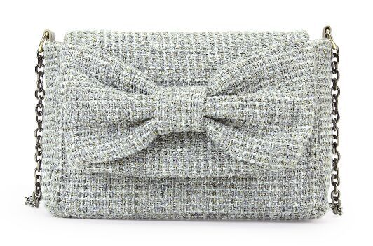 Upscale ladies wind bow chain bag, gray woolen tweed shoulder bag, high quality lovely diagonal Ms. bags<br><br>Aliexpress
