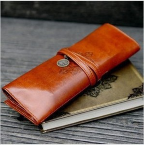 Cute korea stationery vintage leather big capacity pencil case cosmetic bag School &amp; office supplies free shipping 0021<br><br>Aliexpress