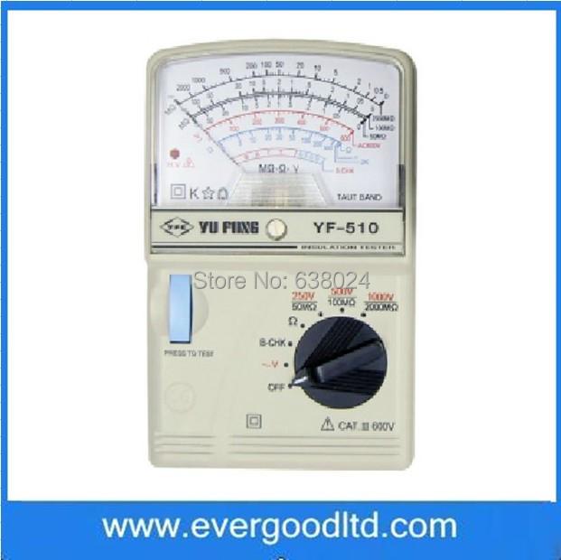 TENMARS YF-510 High Resistance Pointer Insulation Tester Analogue Megger Impedance Meter - Shanghai Ever Good Electronic Co., Ltd store