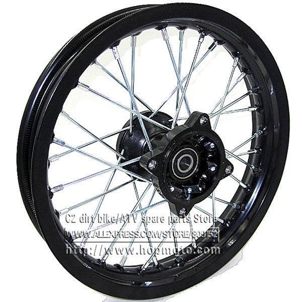 "Black Dirt Bike Pit Bike Front 12 inch Rims 12"" for small off road motorcross CRF Front Wheels spare parts(China (Mainland))"