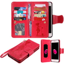 Buy Heavy Leather Case iPhone 7 Plus 6 6S 6plus 5 5S SE Wallet Case 9 Card Slots Flip Cover Stand Mirror iPhone 7plus for $6.99 in AliExpress store