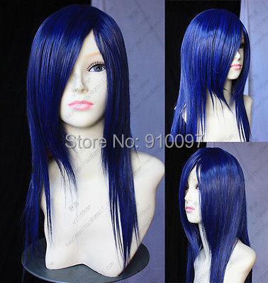 H&amp;X2058&gt;&gt;fashion long straight black blue hair Cosplay wig<br><br>Aliexpress