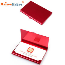 Brand New Aluminum Holder Metal Box Cover Credit Business Card Wallet For women men 2016 Gift 1pcs(China (Mainland))