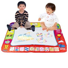 Hot Style 80*60 cm Water Drawing Painting Writing Mat with Doodle Magic Pens for Children Kids Developmental Intelligence Crafts(China (Mainland))