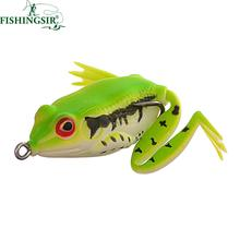 Buy Lifelike Surface Topwater Frog Soft Fishing Lure Soft Frog Lure Fishing Hook Bass Trout Soft Fishing Bait 5cm 12g for $4.58 in AliExpress store