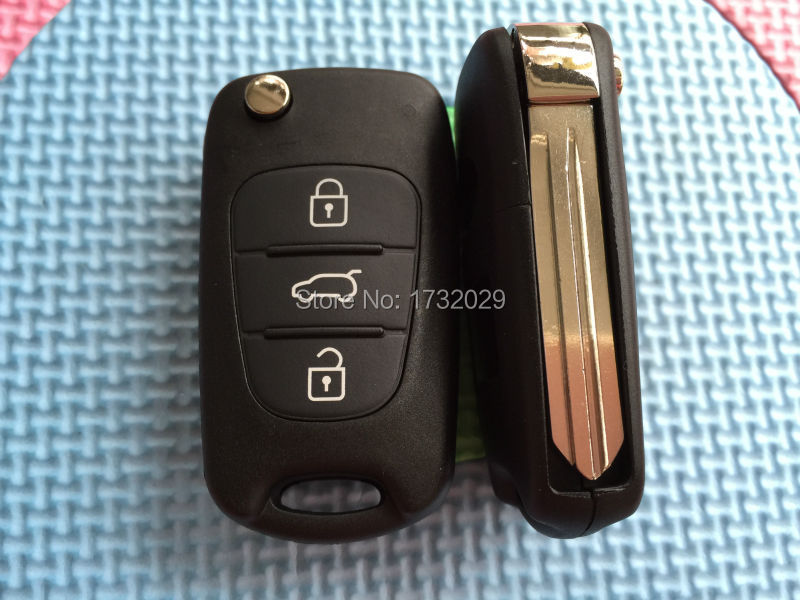 Free Shipping For Fits to Replacement KIA SOUL 3 Button Remote key FOB shell case + blank blade(China (Mainland))