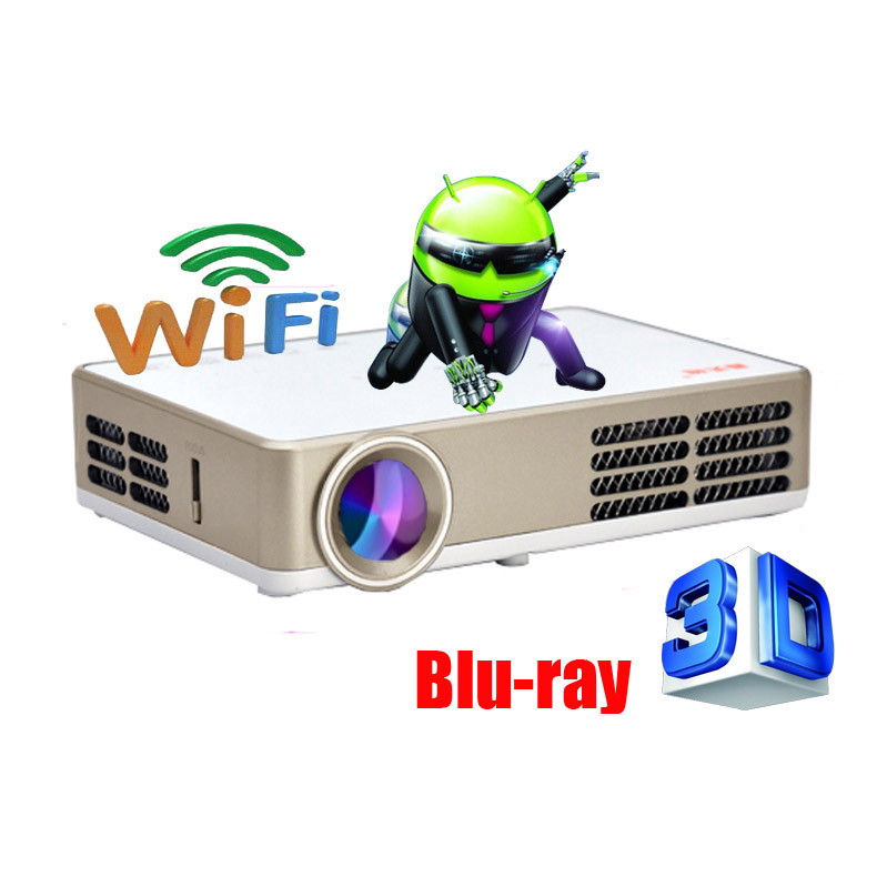 Buy 2000ansi android wifi dlp led 1080p for Mirror mini projector