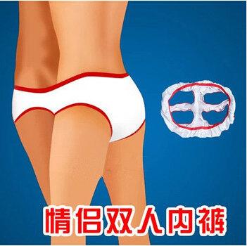 Couples unisex sexy thong temptation T pants lingerie male female women man s panties Double wear