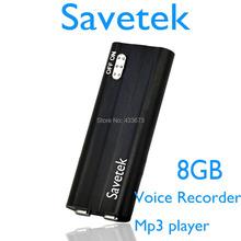 Savetek 2015 New Arrival MINI  Clip USB PEN 8GB Voice Activated Digital Audio Voice Recorder Mp3 70hours Recording Black