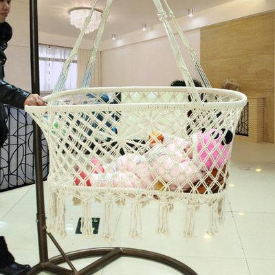 Newborn Baby Summer Suspension Sype Cotton Rope Manual Environment Cradle Basket Weave Design(China (Mainland))