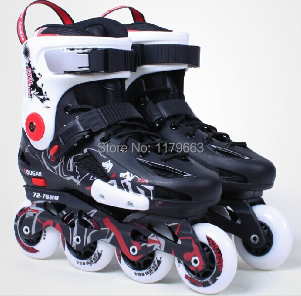 2014 COUGAR skate shoes inline skating Rider of the last shadow professional slalom roller inline speed skates MZS307(China (Mainland))