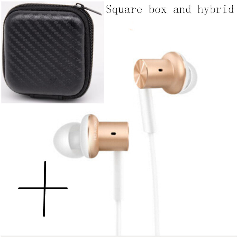Original Xiaomi Hybrid Earphone for iPhone and Android In-Ear With Mic Circle Iron Mixed volume adjustment with earphone box(China (Mainland))
