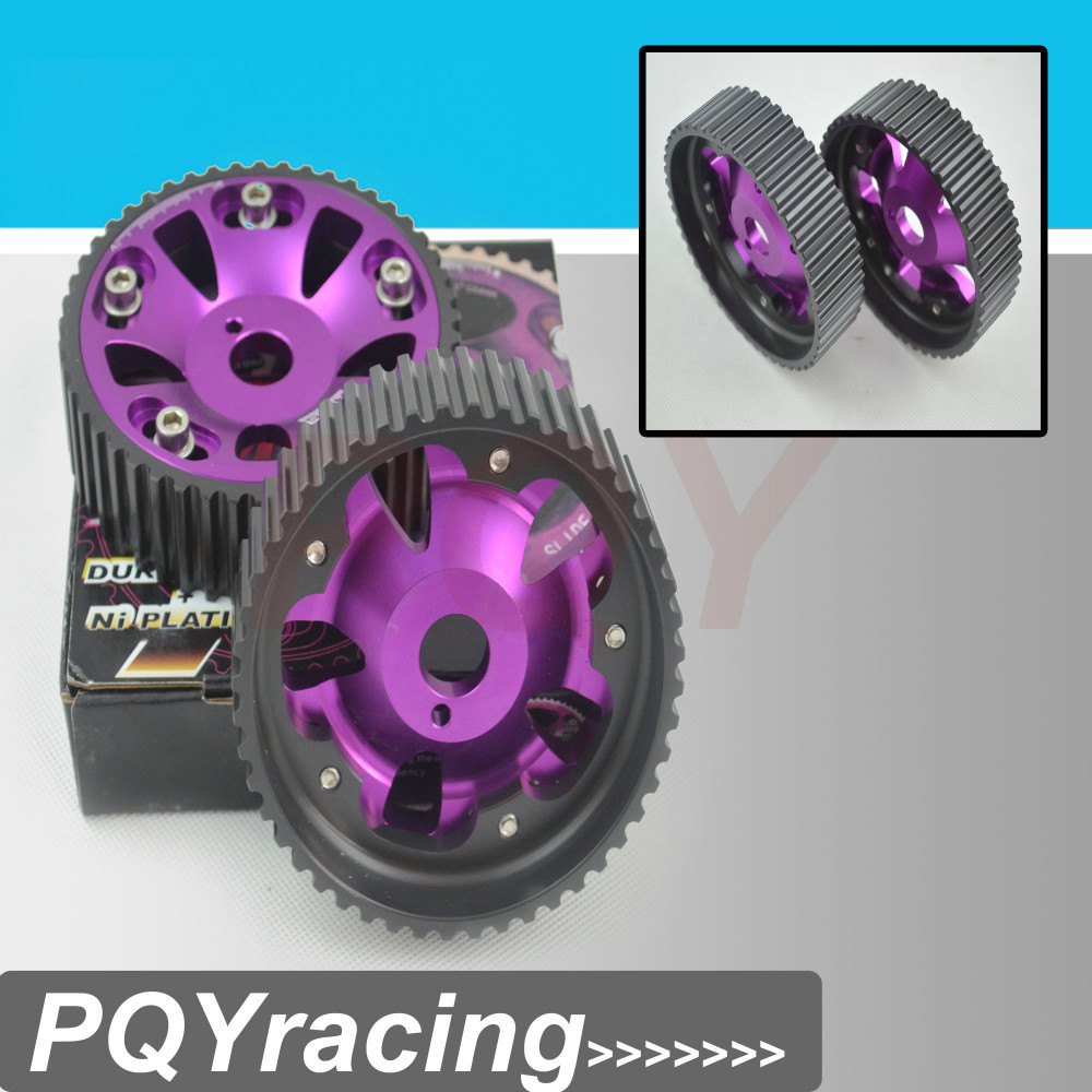 VR Racing Store 1Pair FOR Toyota 1JZ 2JZ DOHC Engine Adjustable Aluminum Pulley Cam Gear Purple
