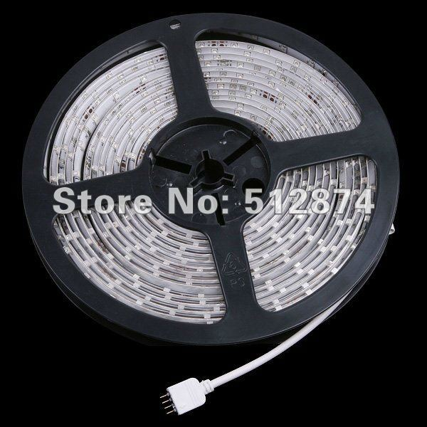 5M SMD 5050 150Leds RGB LED Strips and 44 Key IR Remote Control and 12V 3A Power Supply US/EU/UK/AU Warm white Yellow  30Leds/m
