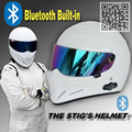TopGear The STIG Helmet With Bluetooth Built in White Helmet Capacete Casco De with Colorful Visor