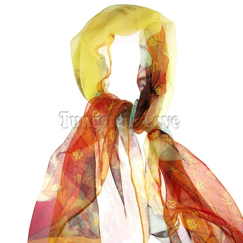 165cm New fashion Ladies scarf Chinese Elegant style Beauty Spring autumn silk chiffon scarves shawl women Gifts panuelos mujer(China (Mainland))