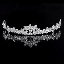 HOT Elegant Sparkly Lmitation Crystal Rhinestone Crown Tiara Wedding Prom Bride's Headband Wedding Headband(China (Mainland))
