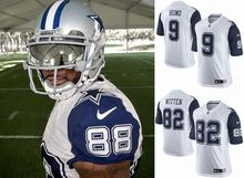 2016 elite Men Dallas Cowboys #9 Tony Romo # 88 Dez Bryant # 82 Jason Witten #22 E.smith Blue white Color Rush, stitched logo(China (Mainland))