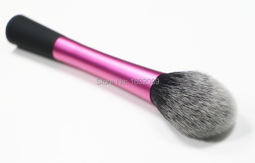 New Pink Color Long material Handle soft Synthetic Hair professional cosmetic powder kabuki blending makeup brushes blush brush.(China (Mainland))