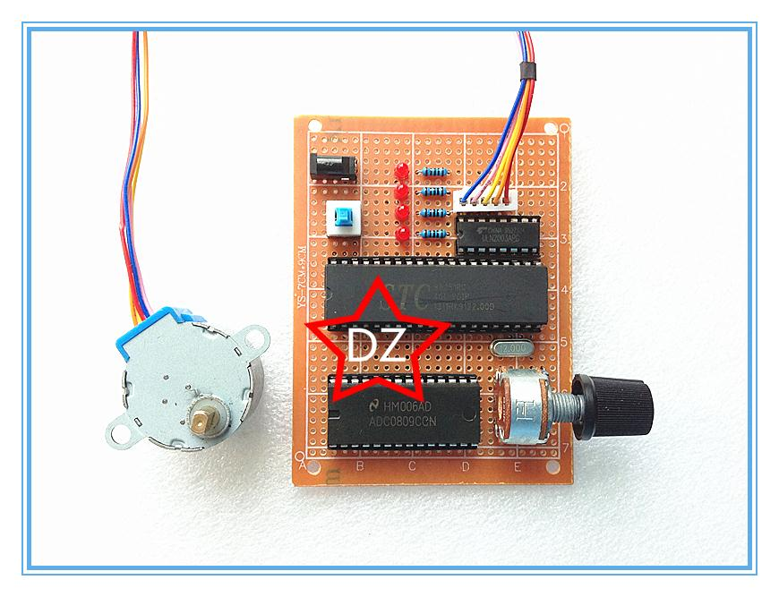 51 single chip stepper motor speed control based for Stepper motor velocity control