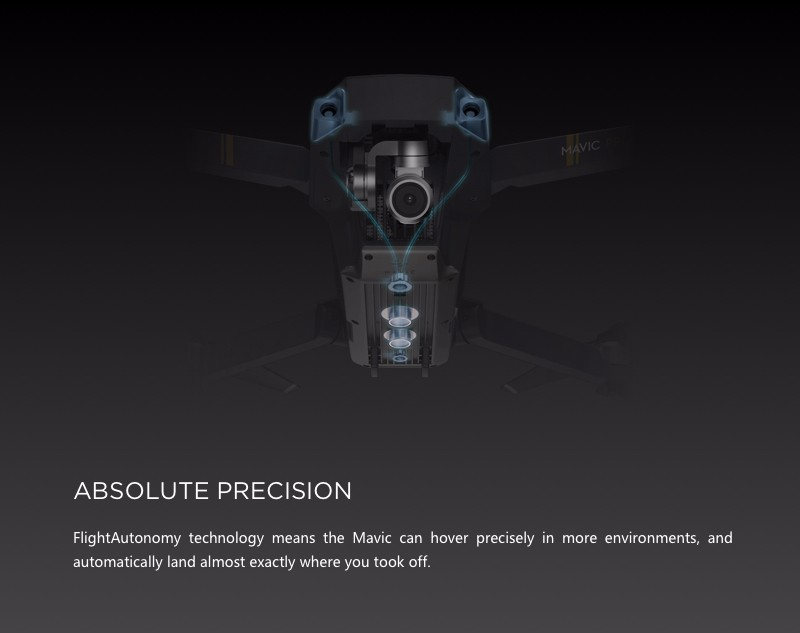 [IN-Stock] DJI Mavic Pro Gimbal Stabilized Camera RC Quadcopter 4K HD Drone Value universal suit Selfie FPV GPS Mini 12MP Lens