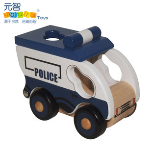Educational Wooden Mlv Series i -Patrol Black Maria Paddy Wagon Police Car Toy Model Children Kids Set Little Rigs Collection(China (Mainland))