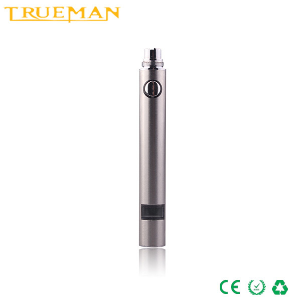 Trueman HAHA Electronic Cigarette LCD Battery Evod USB Passthrough Vacuum Coating Rechargeable 650mah 5pin Battery(China (Mainland))