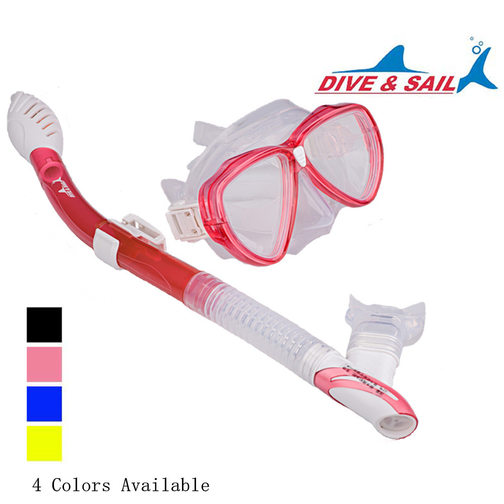 DIVE & SAIL Adult Recreation Mask Snorkel Set for Diving Snorkeling Swimming(China (Mainland))